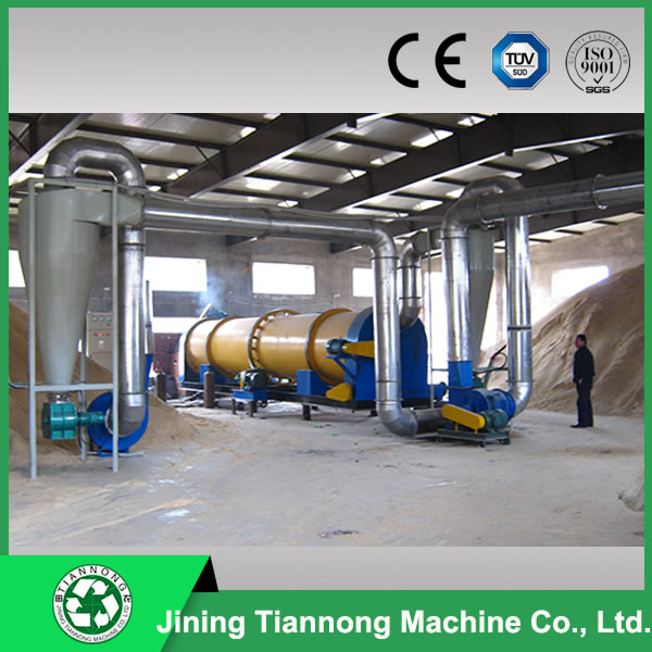 Industrial sawdust rotary dryer