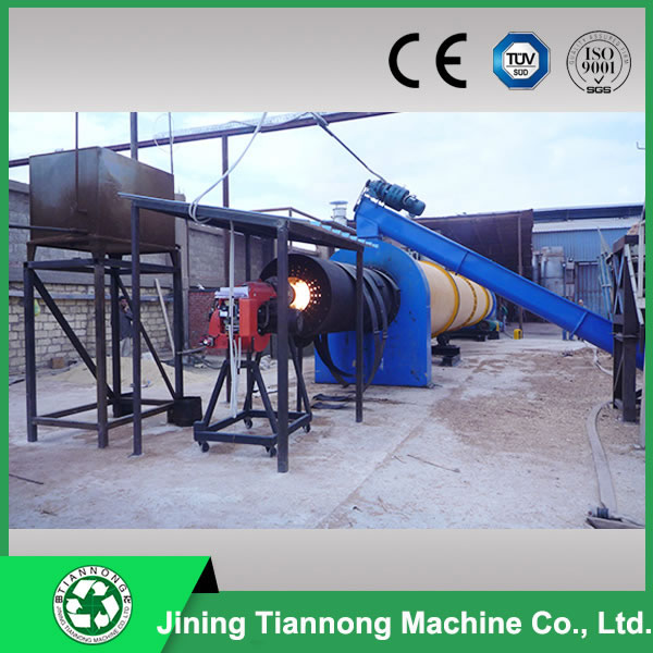 Wood pellet rotary dryer
