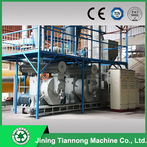 High capacity sawdust pellet production line