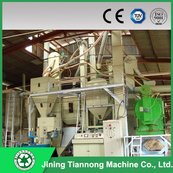 Compress wood pellet line